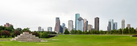 Houston city in the state of Texas, United States, as seen from the Buffalo Bayou Park