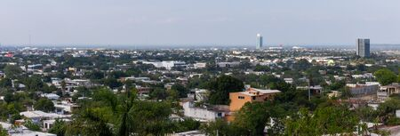 Ciudad Victoria in the state of Tamaulipas, Mexico, panoramic view, with the Torre Bicentenario in the distance