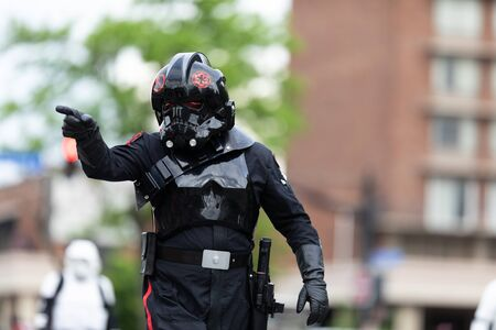 Louisville, Kentucky, USA - May 2, 2019: The Pegasus Parade, Members of the 501st Legion, wearing Star Wars outfits during the parade