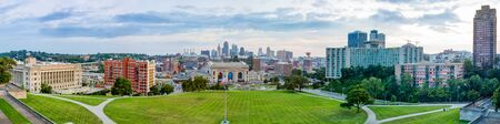Kansas City in the state of Missouri, United States of America, Skyline as seen from the National World War One Memorial