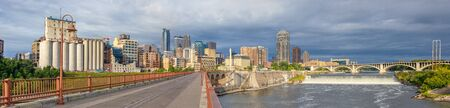 Minneapolis, city in the state of Minnesota, United States of America, during the morning Stock Photo