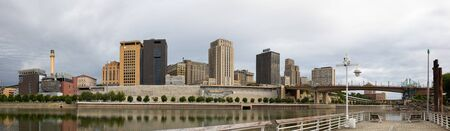 Saint Paul, the State Capital of Minnesota, United States Of America, as seen across the Mississippi River Stock Photo