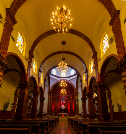 Interior of a Church in the city Victoria, Tamaulipas State, Mexico
