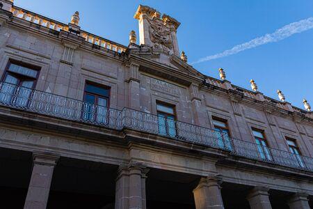 Edificio del Palacio Municipal, arquitectura colonial en la ciudad de Aguascalientes, estado de Aguascalientes, México