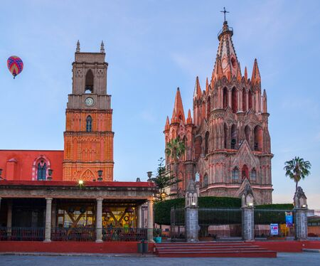 Parroquia de San Miguel Arcángel, in the city of San Miguel de Allende, Guanajuato Mexico