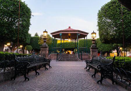The Kiosk in the Allende Garden in the morning, San Miguel de Allende, Guanajuato, Mexico