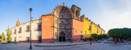 The Templo de Nuestra Señora de La Salud early in the morning, in San Miguel de Allende, Guanajuato, Mexico