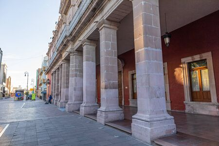 The Columns of the Municipal Government Palace of Aguascalientes, Mexico