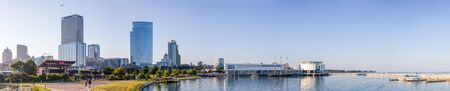 Milwaukee, city in the state of Wisconsin, United States of American, as seen on the afternoon from the lakefront