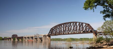 The Historic Fourteenth Street Bridge over the Ohio river, connecting Kentucky and Indiana