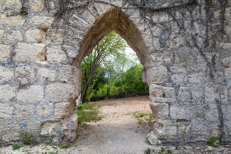The ruins of a former Hacienda in Hidalgo, state of Tamaulipas, Mexico
