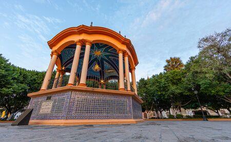 Gazebo in Main Plaza Miguel Hidalgo in Matamoros, Tamaulipas state, Mexico