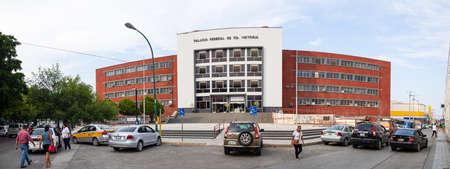 Ciudad Victoria, Tamaulipas, Mexico - July 2, 2019: The Federal Palace of Ciudad Victoria, Government building