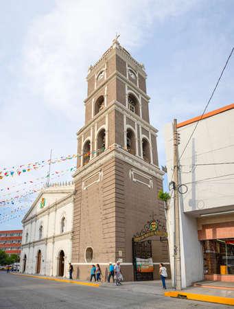 Ciudad Victoria, Tamaulipas, Mexico - July 2, 2019: Church in Plaza Hidalgo, Basilica de Nuestra Señora del Refugio Editorial