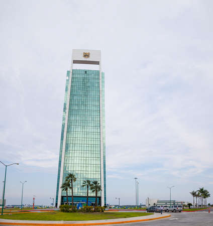 Ciudad Victoria, Tamaulipas, Mexico - July 2, 2019: The Tower Bicentenario, government building of the State