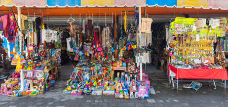 El Chorrito, Tamaulipas, Mexico, July 2, 2019: Smalls shop, with candy, toys and other artesanias Editorial