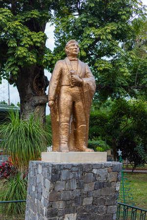Gomez Farias, Tamaulipas, Mexico - December 26, 2018: Sculpture of Benito Juraz, in the citys plaza