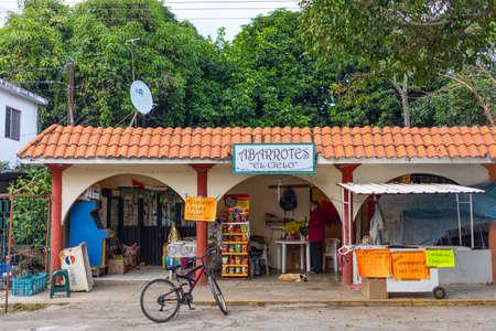 Gomez Farias, Tamaulipas, Mexico - December 26, 2018: Traditional small town neighborhood store in Mexico