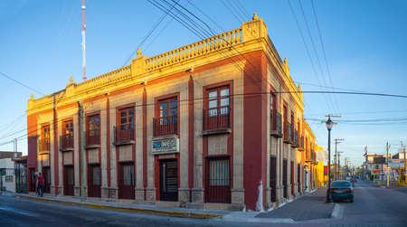 Matamoros, Tamaulipas, USA - November 20, 2019: The old INEGI building in downtown Matamoros
