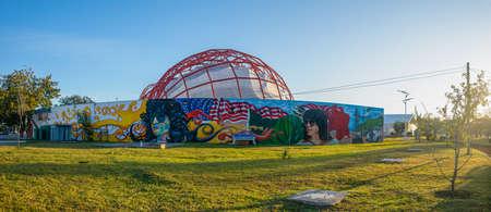 Matamoros, Tamaulipas, USA - November 20, 2019: Mural in memory of Rigo Tovar, local singer, on the back wall of his Museum Editorial