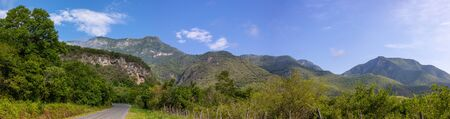 the Sierra Madre Oriental as seen from TAM 30 road, in the Mexican state of Tamaulipas