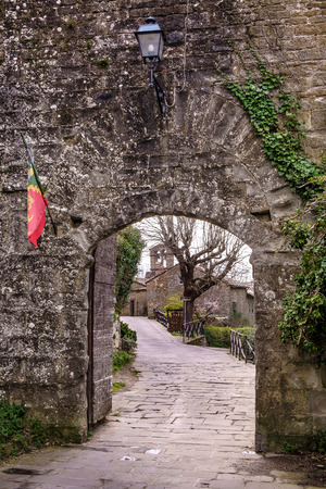 etruscan: Cortona is one of the most ancient Etruscan town and given the elevated position 600 s.l.m. It enjoys a wonderful view over the whole Valdichiana Stock Photo