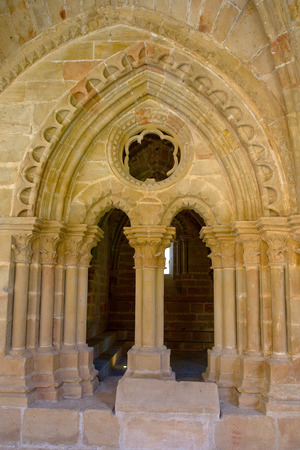 zaragoza: Rueda Cistercian monastery, XIII century, Escatron, Zaragoza, Aragon, Spain Stock Photo