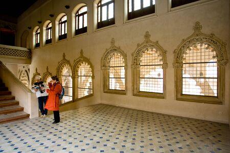 zaragoza: Zaragoza, Aragona, Spain - March 8, 2008: Aljaferia Castle
