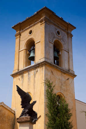 luce: Pomaia is a fraction of the municipality of Santa Luce, in the province of Pisa, Saint Stephens Church Stock Photo