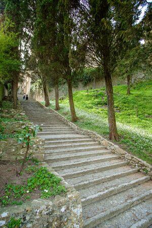 volterra: Italy, Tuscany, Volterra, stairway of Docciola