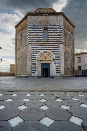 volterra: Italy, Tuscany, Volterra, Baptistery of San Giovanni Battista
