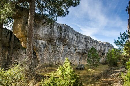castille: Spain, Castille La Mancha, Cuenca province, Serrano de Cuenca, Ciudad Encantada, Rock Formation