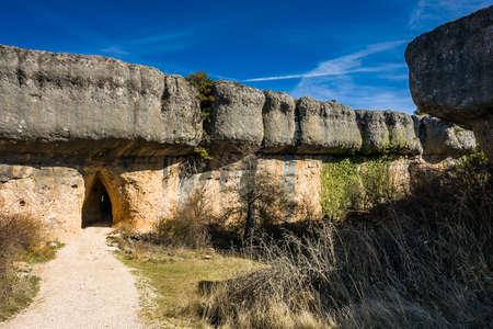 mancha: Spain, Castille La Mancha, Cuenca province, Serrano de Cuenca, Ciudad Encantada, Rock Formation