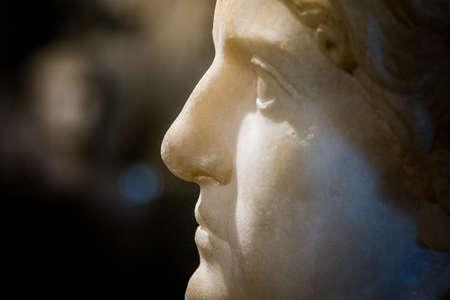 cuenca: Roman bust from of Segobriga, Cuenca Province, Castile-La-Mancha, Spain