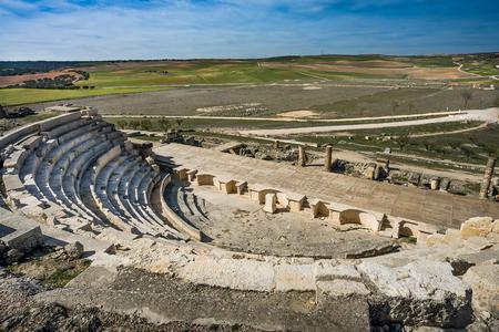 Segobriga、クエンカ県、カスティーリャ-ラマンチャ、スペインのローマ遺跡 写真素材