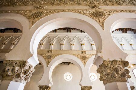 Toledo, Castilla La Mancha, Spanje, synagoge van Santa Maria la Blanca