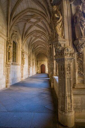 mancha: Toledo, Castilla La Mancha, Spain, Cloister of Monastery of San Juan De Los Reyes