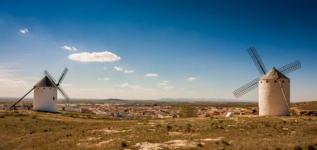 castille: Don Quixotes Windmills, Consuegra Spain, Spanish Landscape in La Castilla La Mancha