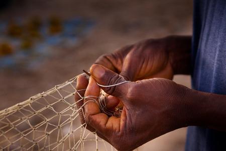 West-Afrika, de stranden van Yongoro in de voorkant van Freetown Stockfoto