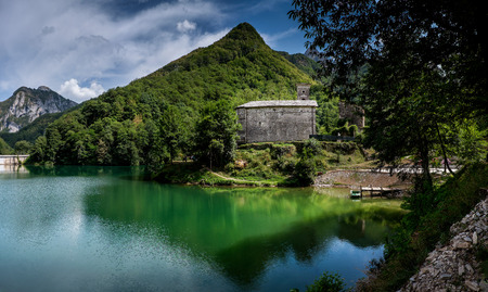 Garfagnana, Tuscany, Italy - Isola Santa is a ghost village at the heart of Apuan Alps