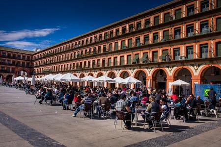 Cordoba of Cordova, is een stad van Andalusië, Zuid-Spanje, Plaza de la Corredera