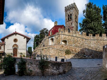 Castagneto Carducci is one of the most popular towns on the Etruscan Coast, Leghorn, Italy, the Gherardesca Castle historic former home