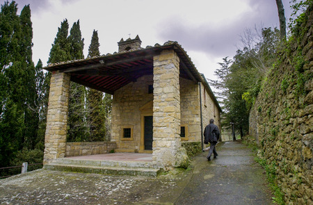 Casale MArittimo, Pisa, Tuscany - Italy - the small church of Our Lady of Grace Chapel