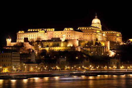 Budapest, capital of Hungary, Buda Castle at night
