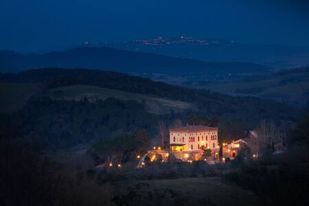 agriturismo: Casale Marittimo, Pisa, Tuscany - Italy - landscape of hills with view of Ricrio facing the Val di Cecina, Volterra and Querceto