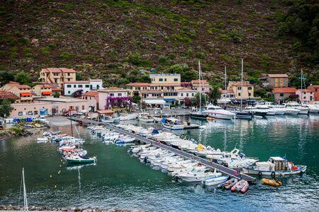 livorno: Capraia Island, Arcipelago Toscano National Park, Tuscany, Italy - marina boats