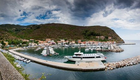 capraia: Capraia Island, Arcipelago Toscano National Park, Tuscany, Italy - marina boats