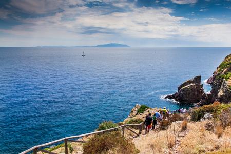 capraia: Capraia Island, Arcipelago Toscano National Park, Tuscany, Italy - Reganico path for Zurletto bay