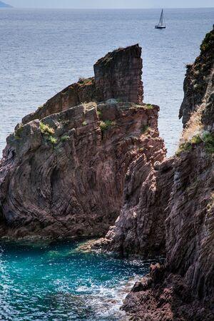 livorno: Capraia Island, Arcipelago Toscano National Park, Tuscany, Italy - Zurletto bay Stock Photo