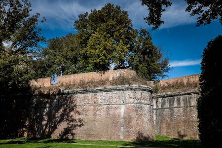Giardino Scotto in Pisa - Public Gardens and Park with the Medieval walls in Pisa, Italy